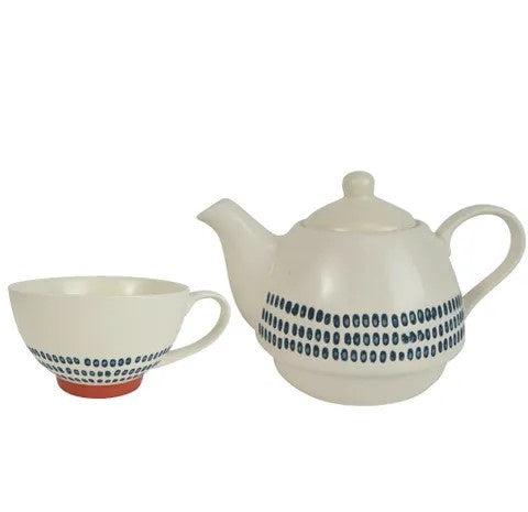 Casa Regalo Sawyer Ceramic Tea For One