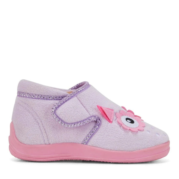 Grosby Owl Slipper Lilac/Pink
