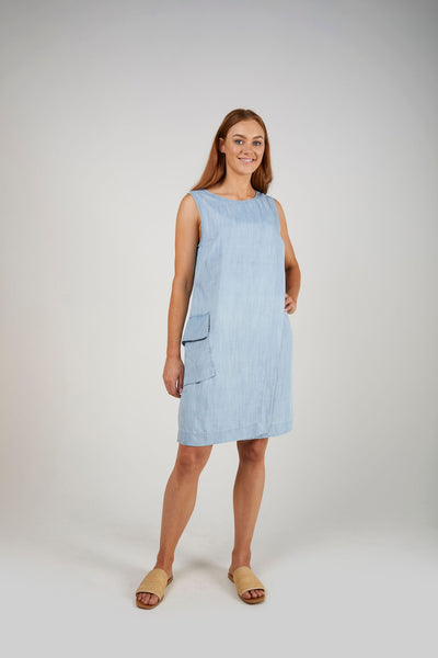 E&D Tank Dress- Chambray
