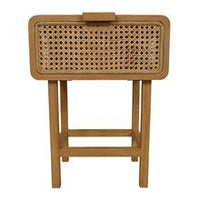 j.elliot Seabrook Rattan Bedside Table Natural