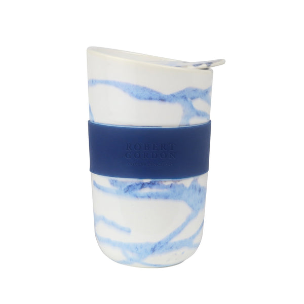 Robert Gordon Travel Mug with band - Blue Splatter
