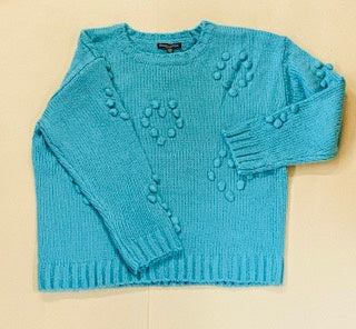 Caroline Morgan Teal Knit Pullover