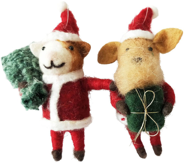 Urban Products Dog and Cat Felt Christmas Decoration