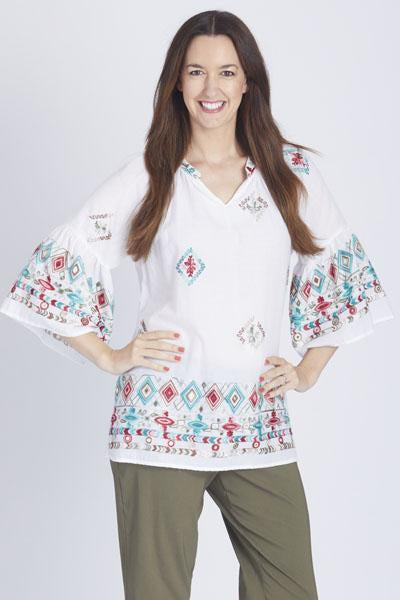 Cordelia StBorder Embroidered Shirt