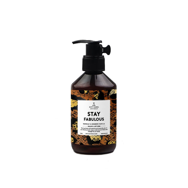 The Gift Label Amsterdam Stay Fabulous Hand Lotion Pump 250ml