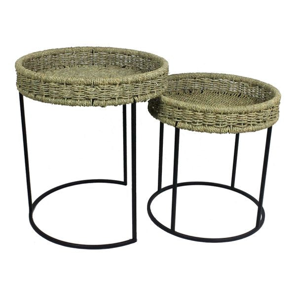 Want Nested Sorrento Natural Side Tables Setx2