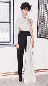 SEEN asymmetric draped top
