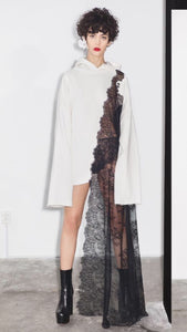 SEEN asymmetric lace sweater