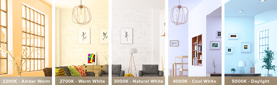 Color Temperature of light bulbs can create different lighting moods