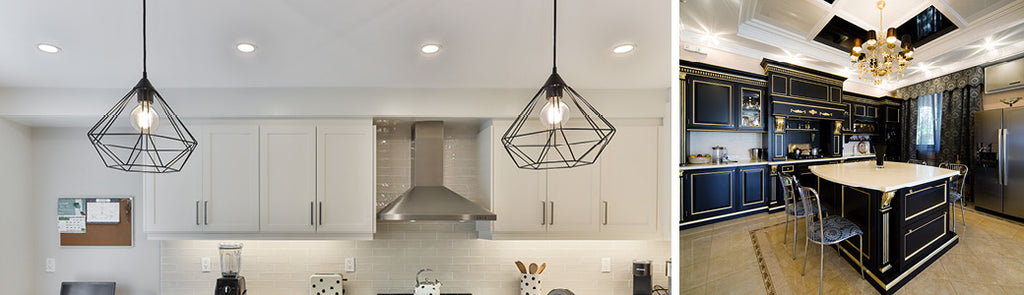 Downlight LED decorations in kitchens