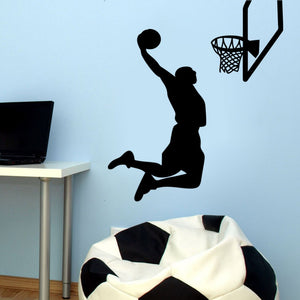 Vinyl Removable Sports Wall Stickers 2016 MVP NBA Basketball Player Lebron  James Sports Wall Stickers Home