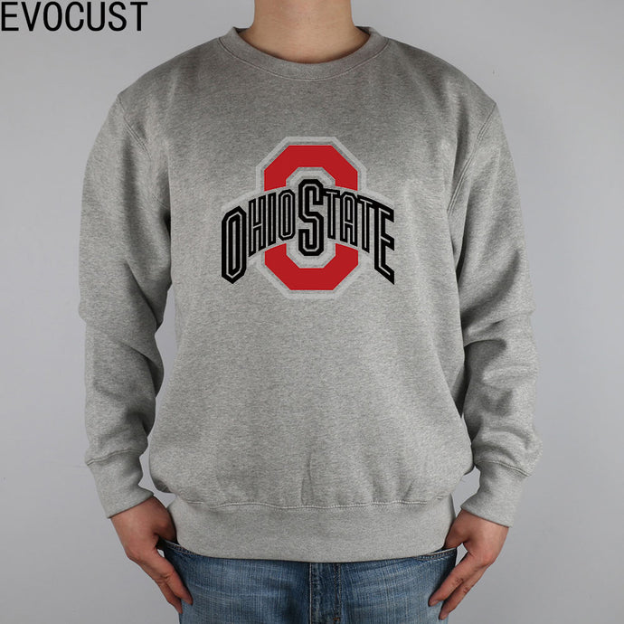 e6c7bae72 NEWV OHIO STATE UNIVERSITY men Sweatshirts Thick Combed Cotton