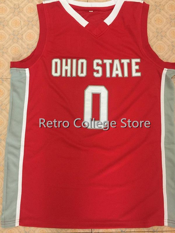 first rate 5d371 0411e Ohio State Buckeyes #0 D'Angelo Russel Retro Throwback College Basketball  Jersey stitched name and number any size XXS-6XL