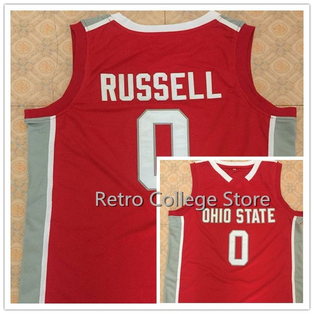Ohio State Buckeyes 0 D Angelo Russel Retro Throwback College Basketball Jersey Stitched Name And Number Any Size Xxs 6xl
