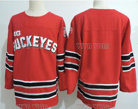 ee303c286 Ohio State Buckeyes University Ice Hockey Jersey Stitched Custom an-4Xy Number  Any Name Throwback