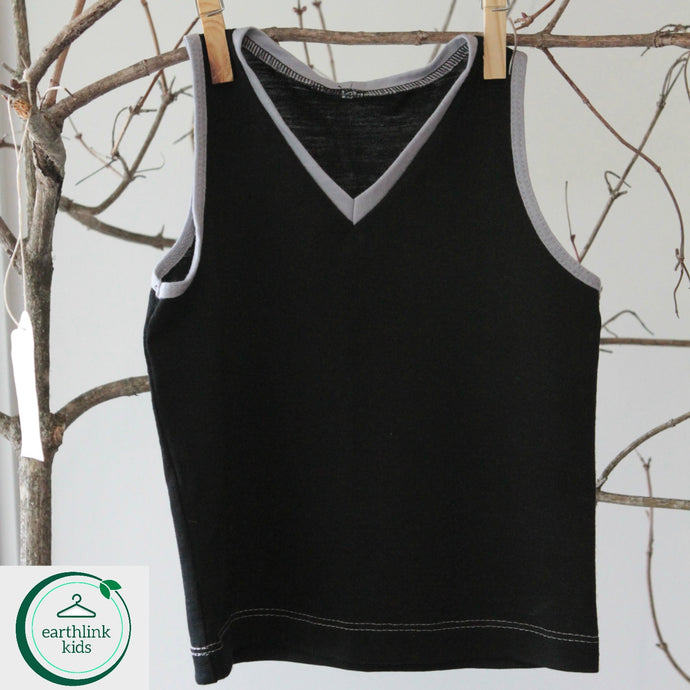 Merino tailored vest top