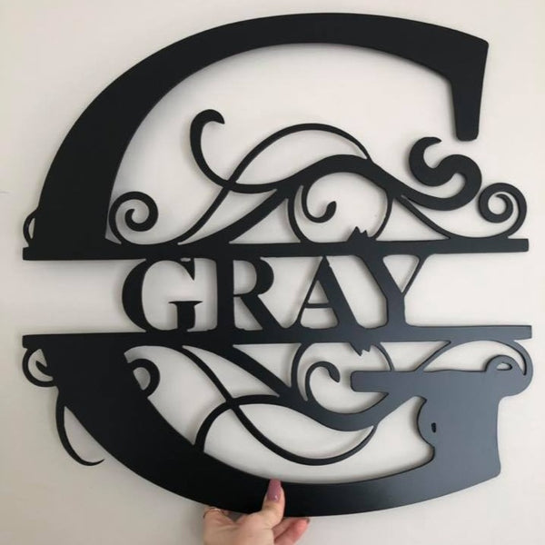 Personalised Steel Letter Monogram Wall Art Sign - Plazmart NZ