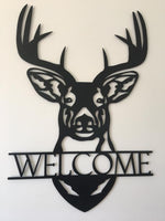 Stag Head Welcome Sign - Plazmart NZ