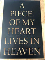 A Piece Of My Heart Lives In Heaven - Plazmart NZ