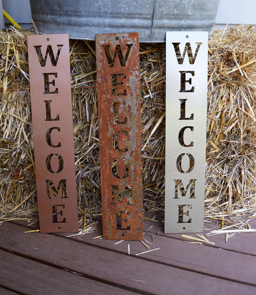 Welcome Vertical Sign - Plazmart NZ