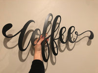 Coffee Cursive Sign - Plazmart NZ