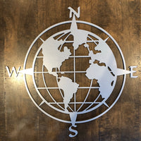 World Map Compass - Plazmart NZ
