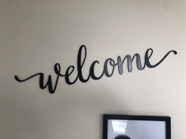 Welcome Cursive Sign - Plazmart NZ