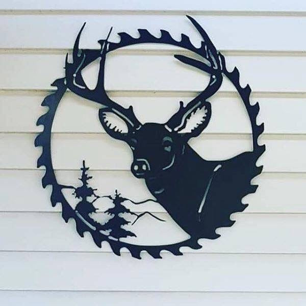 Saw Deer w Antler - Plazmart NZ