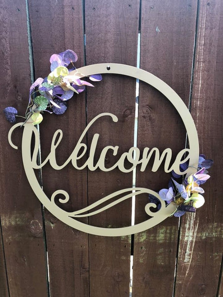 Welcome Circular Sign - Plazmart NZ