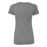 Next Level Ladies Deep V Distressed - Premium Heather