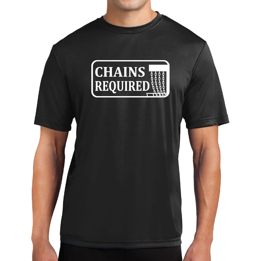 Chains Required Disc Golf Drifit Tee