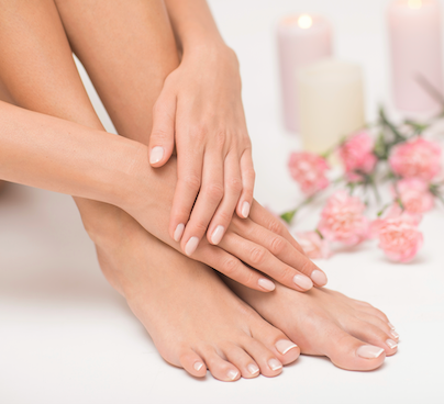 Deluxe Manicure (UV Gel) and Luxury Pedicure COMBO