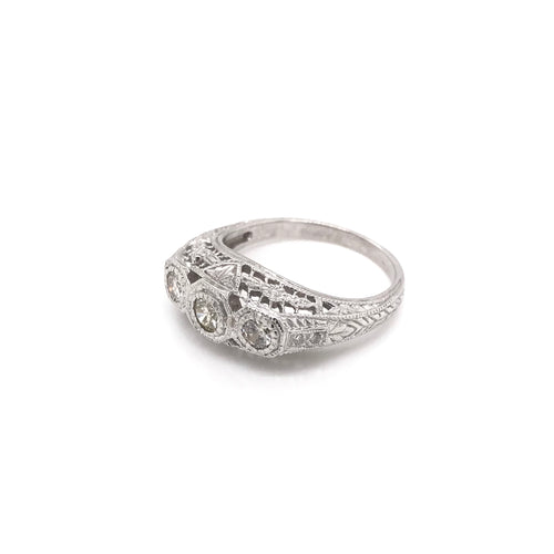 ANTIQUE STYLE 0.25 DTW FILIGREE RING