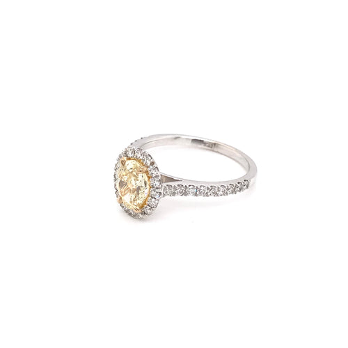 CONTEMPORARY 1.01 CARAT YELLOW DIAMOND RING