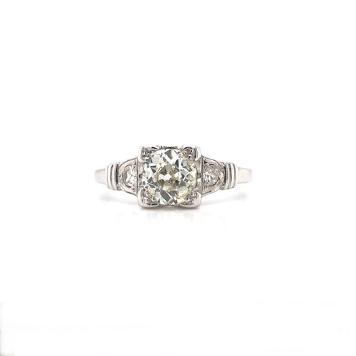 ART DECO 0.75 CARAT DIAMOND SOLITAIRE STYLE RING