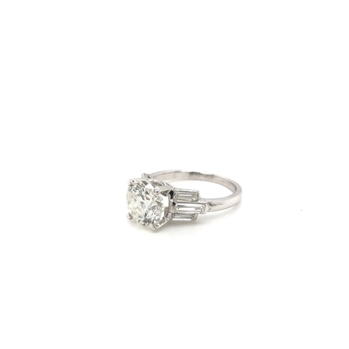 RETRO 2.29 CARAT DIAMOND PLATINUM RING