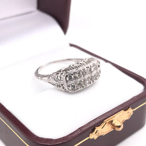 1.0 CARAT DTW DIAMOND AND FLORAL FILIGREE RING