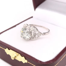 MID CENTURY 1.90 CARAT DIAMOND AND PLATINUM RING