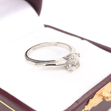 0.88 OLD MINE CUT DIAMOND AND PLATINUM SOLITAIRE STYLE RING