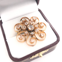VICTORIAN ROSE CUT DIAMOND BROOCH