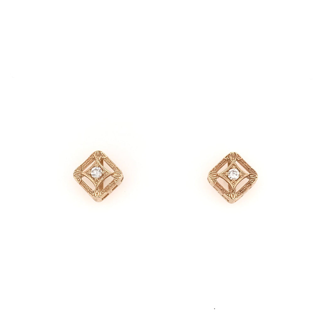 ANTIQUE STYLE STUD EARRINGS