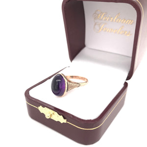 VICTORIAN CABOCHON AMETHYST RING