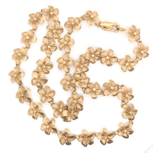 14K GOLD AND DIAMOND FLOWER CHAIN NECKLACE ( 18 INCH )
