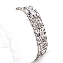 0.50 DTW DIAMOND AND SAPPHIRE GRAND FILIGREE BRACELET