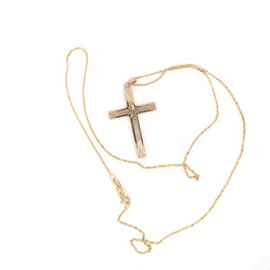 10K GOLD CROSS NECKLACE