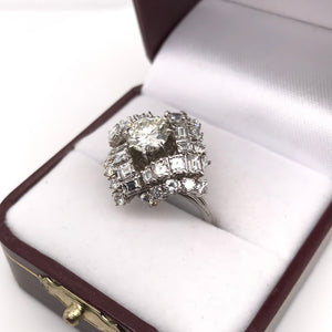MID-CENTURY VARIETY CUT DIAMOND RING