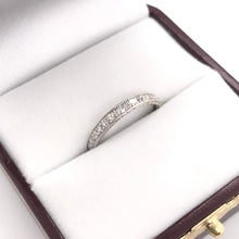"""1923"" ANTIQUE DIAMOND INFINITY STYLE PLATINUM BAND"