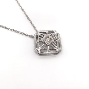 PETITE ART DECO NECKLACE