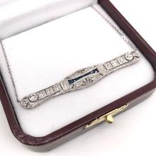 ART DECO DIAMOND AND SAPPHIRE BAR NECKLACE