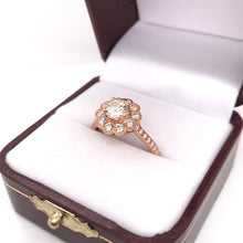 1.34 CTW ANTIQUE INSPIRED ROSE GOLD DIAMOND RING